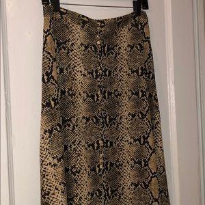 Snake print Midi skirt Zara